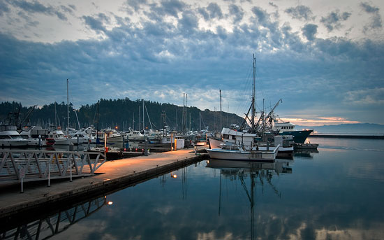 Early morning at Cap Sante Boat Haven, Anacortes