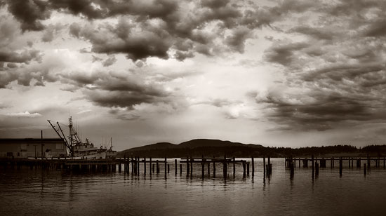 Looking toward Guemes Island and Cypress Island from the Anacortes waterfront
