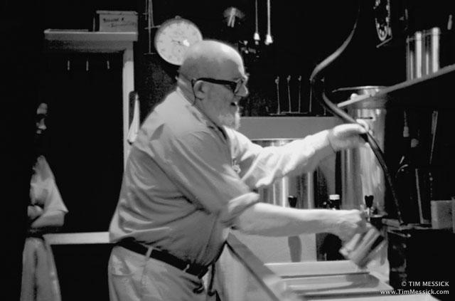 Ansel Adams in his Darkroom, March 1970