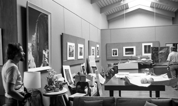 Ansel Adams' Living Room, March 1970