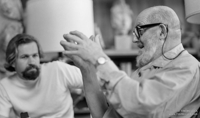 Ansel Adams and student, March 1970