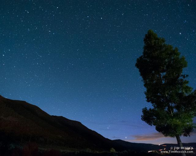 Stars over Lee Vining