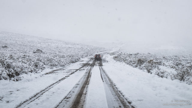The road into Bodie, a mile from the entrance