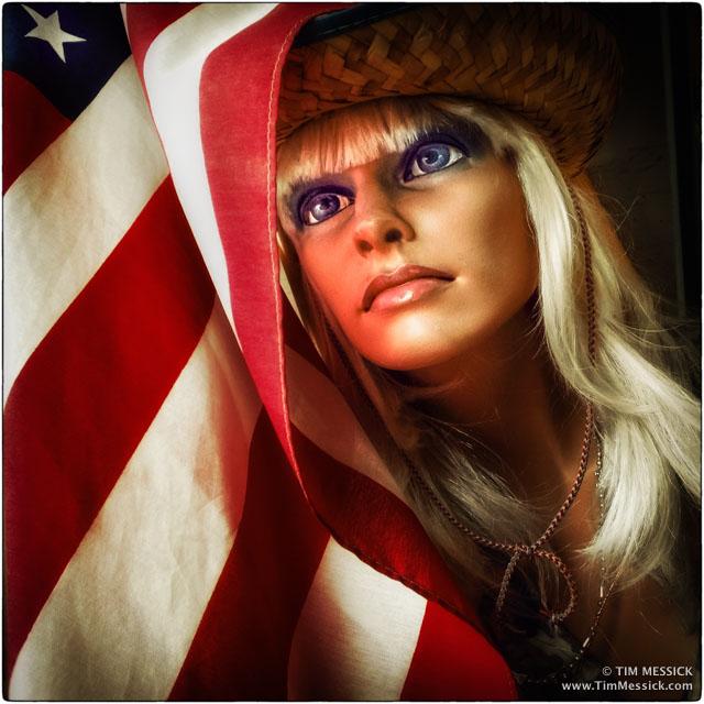 Patriotic mannequin