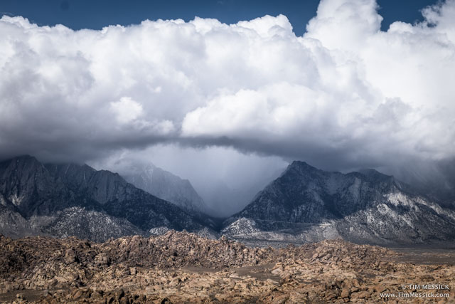 Mt Whitney, hidden in clouds