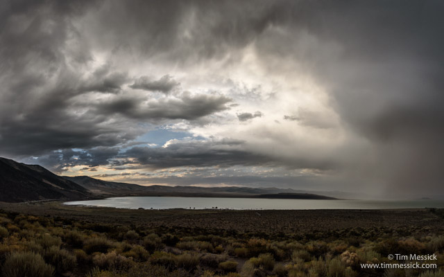 Evening Storm over Mono Lake