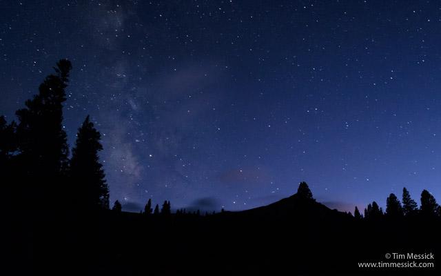 Night sky from Trumbull Lake