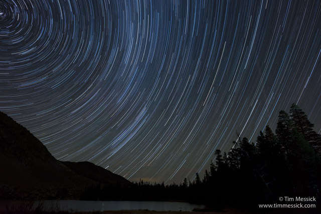 Star trails over Trumbull Lake