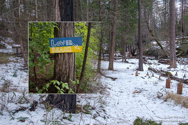 Lower Beach Sign at BTC