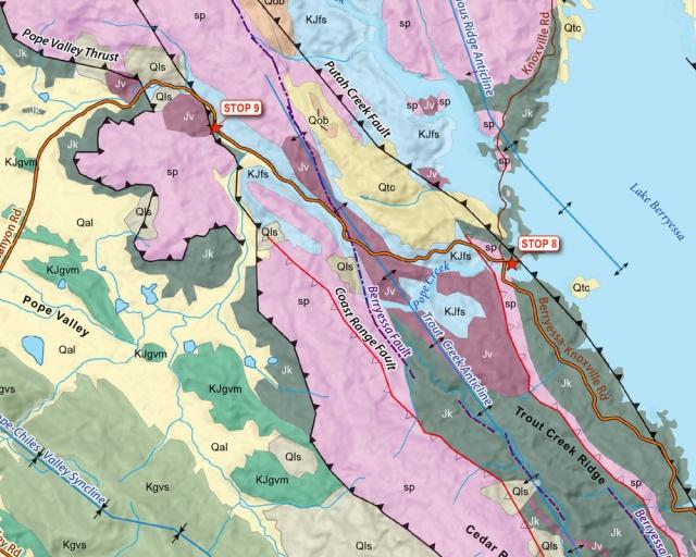 Berryessa Geology Map detail